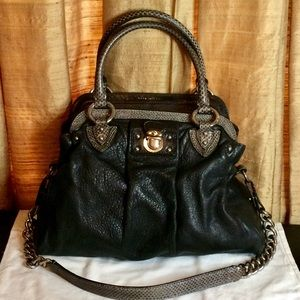 Large Marc Jacobs Leather and Snake Black Purse